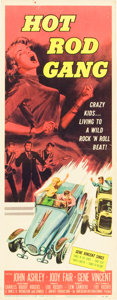 "Movie Posters:Cult Classic, Hot Rod Gang (American International, 1958). Insert (14"" X 36"")....."
