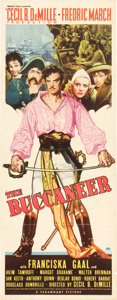 "Movie Posters:Adventure, The Buccaneer (Paramount, 1938). Insert (14"" X 36"").. ..."