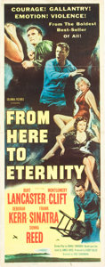 "Movie Posters:War, From Here to Eternity (Columbia, 1953). Insert (14"" X 36"").. ..."