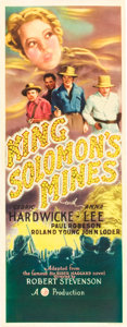 "Movie Posters:Adventure, King Solomon's Mines (Gaumont, 1937). Insert (14"" X 36"").. ..."