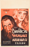 "Movie Posters:Drama, Svengali (Warner Brothers, 1931). Window Card (14"" X 22"").. ..."