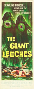 """Movie Posters:Horror, The Giant Leeches (American International, 1959). Insert (14"""" X 36"""").. ..."""