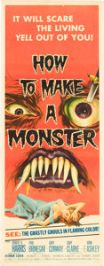 """Movie Posters:Horror, How to Make a Monster (American International, 1958). Insert (14"""" X 36"""").. ..."""