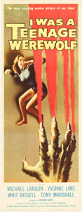 "Movie Posters:Horror, I was a Teenage Werewolf (American International, 1957). Insert(14"" X 36"").. ..."