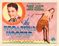 """Movie Posters:Musical, The Broadway Hoofer (Columbia, 1929). Half Sheet (22"""" X 28"""").. ..."""