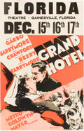 "Movie Posters:Drama, Grand Hotel (MGM, 1932). Window Card (14"" X 22"").. ..."
