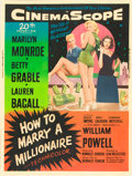 "Movie Posters:Comedy, How to Marry a Millionaire (20th Century Fox, 1953). Poster (30"" X40"") Style Y.. ..."