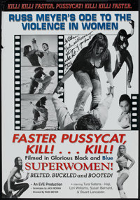 """Faster, Pussycat! Kill! Kill! (Eve Productions, R-2000). Autographed One Sheet (27"""" X 39"""") Style B. Adult"""