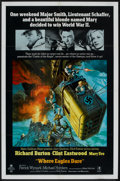 """Movie Posters:War, Where Eagles Dare (MGM, 1968). One Sheet (27"""" X 41"""") Style B. War....."""