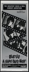 "Movie Posters:Rock and Roll, A Hard Day's Night (United Artists, R-1982). Insert (14"" X 36"").Rock and Roll.. ..."