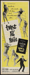 "Movie Posters:Rock and Roll, Twist All Night (American International, 1962). Insert (14"" X 36""). Rock and Roll.. ..."