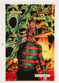 Original Comic Art:Miscellaneous, Thom O'Connor Nightmares on Elm Street Hand-Colored BluelineOriginal Art (Innovation, 1991)....