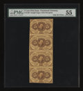 Fractional Currency:First Issue, Fr. 1230 5c First Issue Vertical Strip of Four PMG About Uncirculated 55....