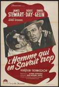 """Movie Posters:Hitchcock, The Man Who Knew Too Much (Paramount, 1956). French Affiche (31.5""""X 47""""). Hitchcock.. ..."""
