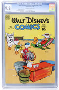 Golden Age (1938-1955):Cartoon Character, Walt Disney's Comics and Stories #106 (Dell, 1949) CGC NM- 9.2Off-white to white pages....