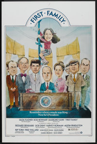 """First Family (Warner Brothers, 1980). One Sheet (27"""" X 41"""") and Lobby Card Set of 8 (11"""" X 14""""). Com..."""