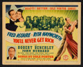 """Movie Posters:Musical, You'll Never Get Rich (Columbia, 1941). Title Lobby Card and Lobby Cards (3) (11"""" X 14""""). Musical.. ... (Total: 4 Items)"""