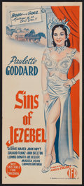 "Movie Posters:Historical Drama, Sins of Jezebel (Lippert, 1953). Australian Daybill (13"" X 30"").Historical Drama.. ..."