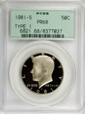 Proof Kennedy Half Dollars, 1981-S 50C --The Set Includes--1982-S. 1983-S.1984-S. Type One PR68 PCGS.... (Total: 4 coins)