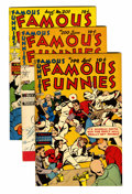 Golden Age (1938-1955):Miscellaneous, Famous Funnies #199 and 200-203 File Copies Group (Eastern Color, 1951) Condition: Average VF/NM.... (Total: 5 Comic Books)