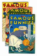 Golden Age (1938-1955):Miscellaneous, Famous Funnies #123, 124, and 126 File Copies Group (Eastern Color, 1944-45) Condition: Average VF/NM.... (Total: 3 Comic Books)