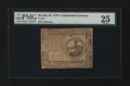 Colonial Notes:Continental Congress Issues, Continental Currency July 22, 1776 $2 PMG Very Fine 25....