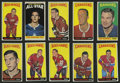 Hockey Cards:Lots, 1964-65 and 1966-67 Topps Hockey High Grade Group of (13)....