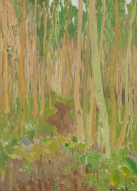EANGER COUSE (American, 1866-1933) Aspen Symphony, 1902 Oil on board 12 x 9 inches (30.5 x 22.9 c