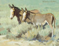 Fine Art - Painting, American:Contemporary   (1950 to present)  , NICHOLAS S. FIRFIRES (American, 1917-1990). Sage BrushBuddies. Oil on canvas. 11 x 14 inches (27.9 x 35.6 cm). Signedu...