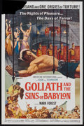 "Movie Posters:Adventure, Goliath and the Sins of Babylon Lot (American International, 1964).One Sheet (27"" X 41""). Adventure.. ... (Total: 2 Items)"