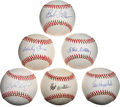 Autographs:Baseballs, Hall of Fame Pitchers Single Signed Baseballs Lot of 6. ...