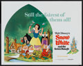"Movie Posters:Animated, Snow White and the Seven Dwarfs (Buena Vista, R-1975). Half Sheet (22"" X 28""). Animated.. ..."