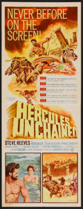 "Movie Posters:Adventure, Hercules Unchained Lot (Warner Brothers, 1959). Inserts (2) (14"" X36""). Adventure.. ... (Total: 2 Items)"