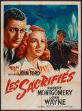 "Movie Posters:War, They Were Expendable (MGM, 1945). French Grande (47"" X 63""). War....."