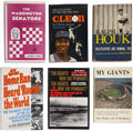 Autographs:Others, Baseball Stars Signed Books Group of 6. ... (Total: 6 items)