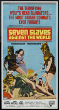"Movie Posters:Adventure, Seven Slaves Against the World (Paramount, 1965). Three Sheet (41""X 81""). Adventure.. ..."