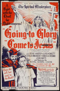 "Movie Posters:Black Films, Going to Glory, Come to Jesus (Toddy Pictures, 1946). One Sheet (27"" X 41"") and Pressbook (10.25"" X 14"" opens to 21"" X 28"").... (Total: 2 Items)"