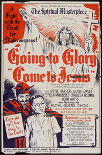 """Going to Glory, Come to Jesus (Toddy Pictures, 1946). One Sheet (27"""" X 41"""") and Pressbook (10.25"""" X 14&qu..."""