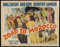 "Movie Posters:Comedy, Road to Morocco (Paramount, 1942). Half Sheet (22"" X 28"") Style B. Comedy.. ..."