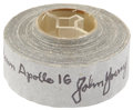 Explorers:Space Exploration, Apollo 16 Flown Roll of Gray Tape Directly from the Personal Collection of Mission Commander John Young, Certified and Signed....