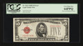 Error Notes:Obstruction Errors, Fr. 1531 $5 1928F Wide Legal Tender Note. PCGS Very Choice New64PPQ.. ...