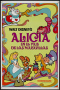 "Movie Posters:Animated, Alice in Wonderland (Buena Vista, R-1974). Spanish Language OneSheet (27"" X 41""). Animated.. ..."