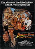 "Movie Posters:Adventure, Indiana Jones and the Temple of Doom (Paramount, 1984). German A1(23"" X 33""). Adventure.. ..."
