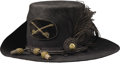 """Military & Patriotic:Civil War, Exceptional and Rare Cavalry Officer's """"Hardee"""" Hat. ..."""