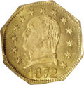 California Fractional Gold, 1872 25C Washington Octagonal 25 Cents, BG-722, Low R.4, MS66PCGS....