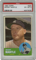 Baseball Cards:Singles (1960-1969), 1963 Topps Mickey Mantle #200 PSA EX-MT 6. Coming off his third ALMVP Award that he won in 1962, the Mick was poised to re...