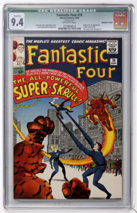Fantastic Four #18 (Marvel, 1963) CGC Qualified NM 9.4 Off-white pages