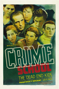 "Crime School (Warner Brothers, 1938). One Sheet (27"" X 41"")"