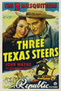 "Movie Posters:Western, Three Texas Steers (Republic, 1939). One Sheet (27"" X 41""). ..."