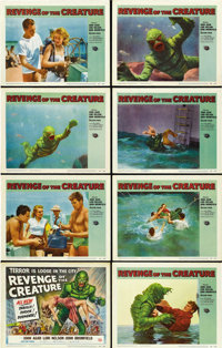 """Revenge of the Creature (Universal, 1955). Lobby Card Set of 8 (11"""" X 14""""). ... (Total: 8 Items)"""